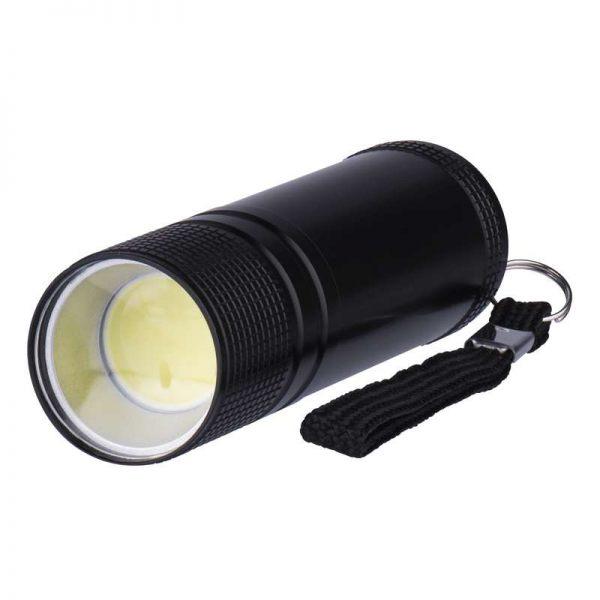 409a66194 Svítilna LED kovová 3W COB LED, na 3x AAA černá : Ventilátory ...