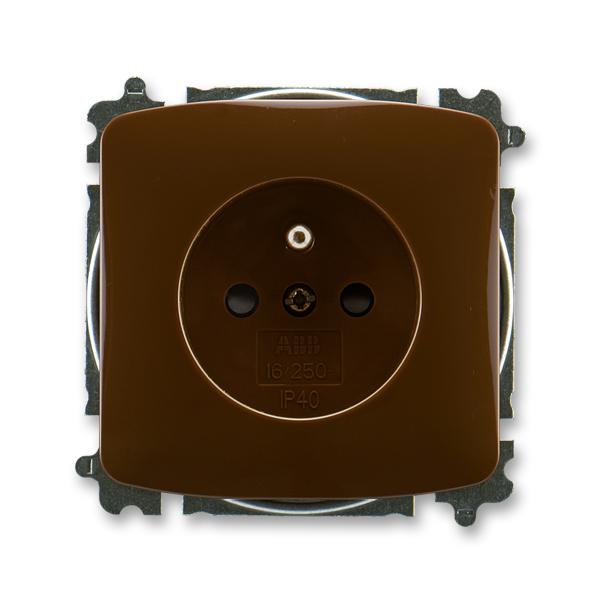 Zásuvka TANGO 5519A-A02357 H hnědá ABB