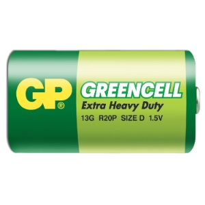 GP baterie Greencell R20 /D, velké mono