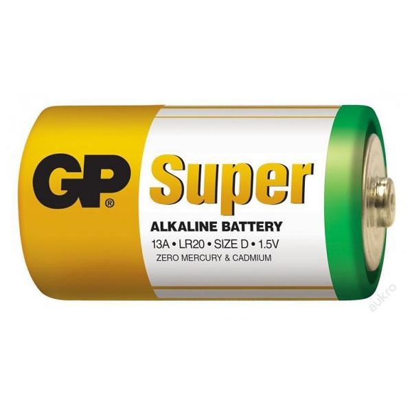 GP baterie Alkaline LR20 /D, velké mono