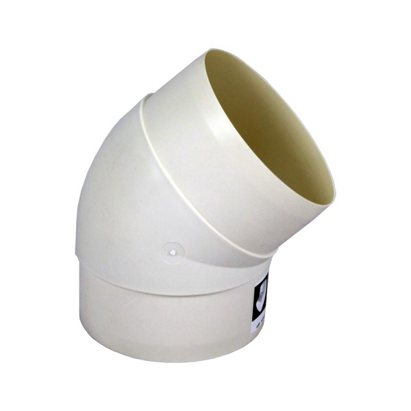 Koleno pro kruhové potrubí 100 mm/45 st. PVC 491p