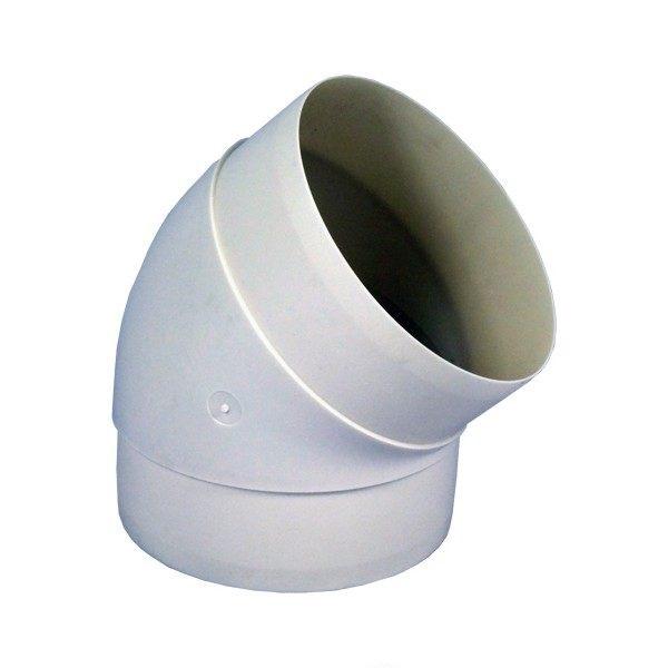Koleno pro kruhové potrubí 150 mm/45 st. PVC