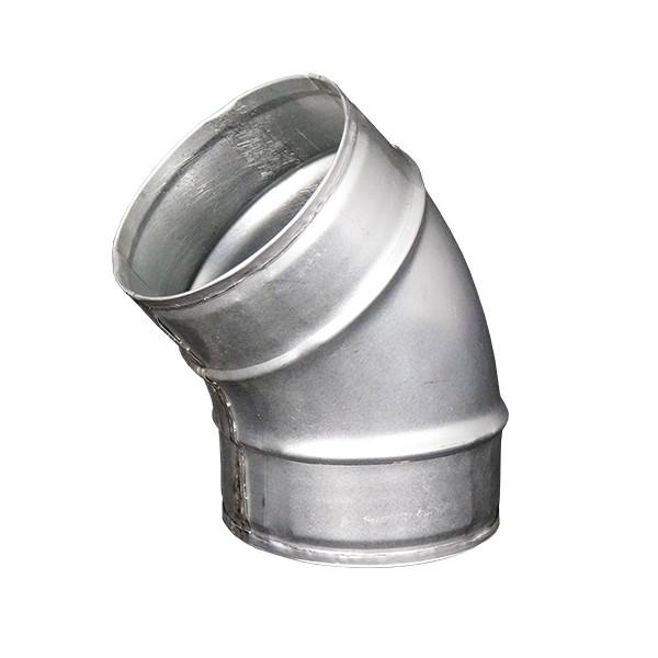 Koleno pro kruhové potrubí 100 mm/45 stupňů, kovové Zn