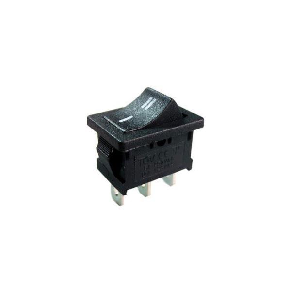Přepínač kolébkový ON-ON 1pol.250V/3A černý