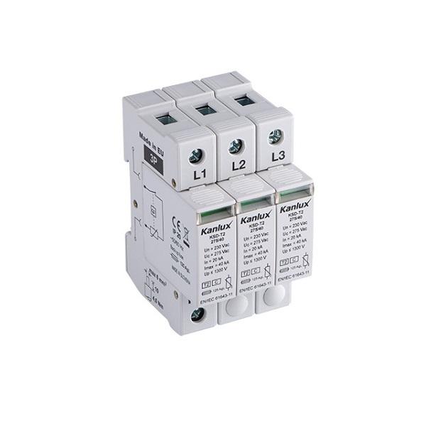 Přepěťová ochrana Kanlux KSD-T2 275/120/3P na DIN lištu