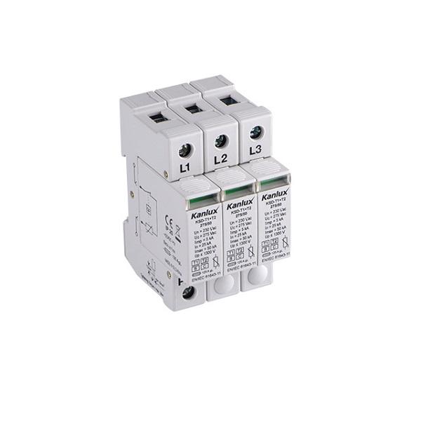 Přepěťová ochrana Kanlux KSD-T1 plus T2 275/150/3P na DIN lištu