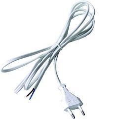 Flexo kabel 2m/2x0,75 bílá šňůra PVC Emos